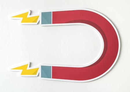 Magnet horseshoe magnetic icon isolated Stockfoto