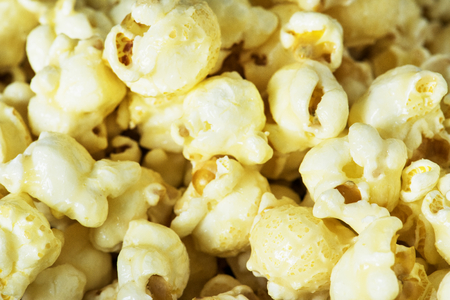 Closeup of popcorn