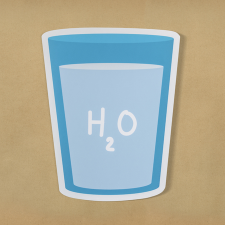 Glass of drinking water icon