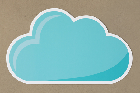Blue cloud technology symbol icon