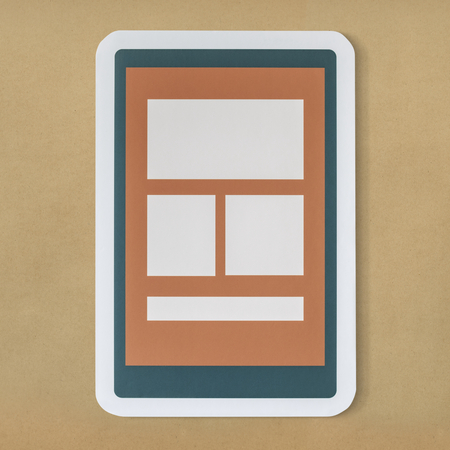 Mobile application technology icon graphic 写真素材