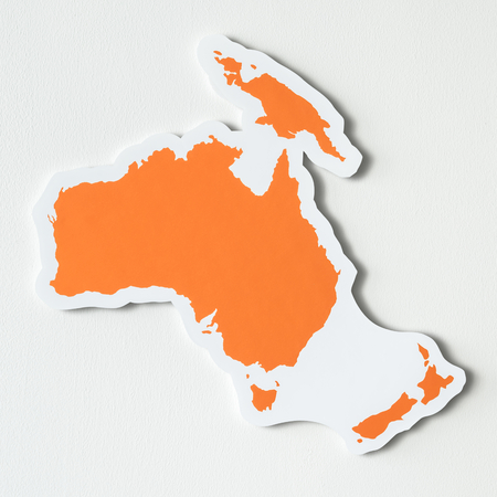 Free blank map of Australia and Oceania