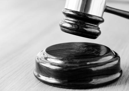 Closeup of gavel judgement concept Stockfoto - 100774529