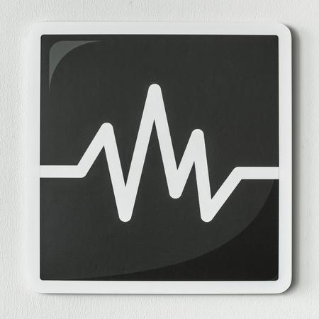 Black and white icon of audio