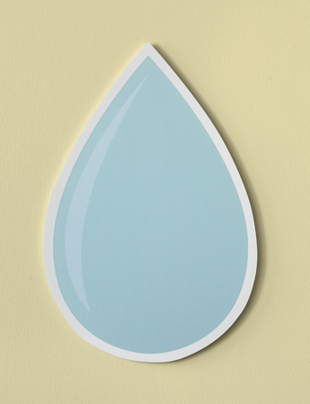 Water drop cut out icon 版權商用圖片