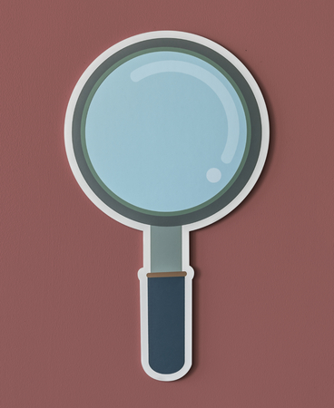 Magnifying glass search icon isolated Reklamní fotografie - 100774097