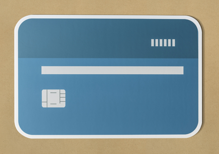 Credit or debit card banking icon Stock Photo