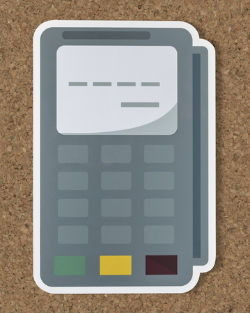Credit card terminal cut out icon