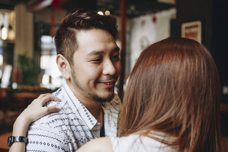 Lovely couple having a good time together Stock Photo