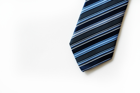 Closeup of necktie Stock Photo