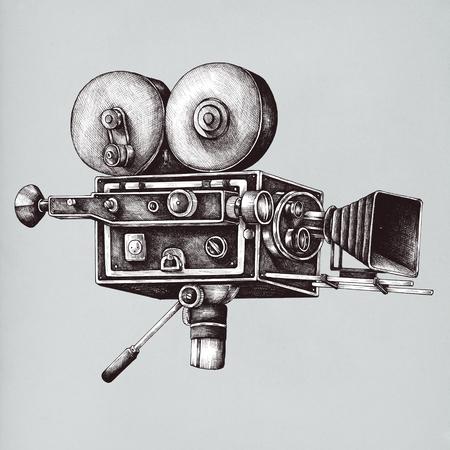 Video camera vintage style illustration Standard-Bild - 99962314