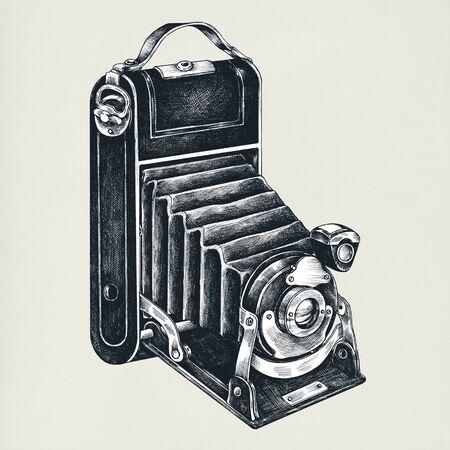 Analog camera vintage style illustration