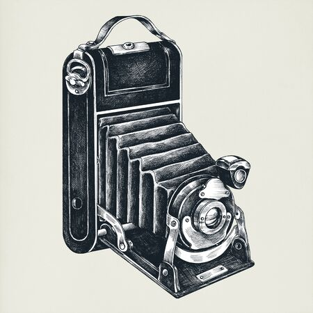 Analog camera vintage style illustration