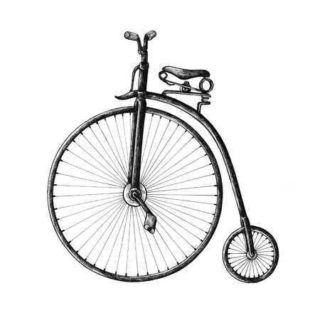 Old bicycle vintage style illustration