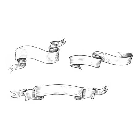 Hand gezeichnet Band isoliert auf den Hintergrund Standard-Bild - 99962526