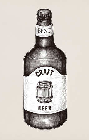 Illustration of a beer bottle Stock fotó - 115927161