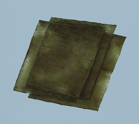 Hand drawn nori seaweed sheets 写真素材