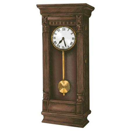 Style rétro horloge longcase dessiné à la main Banque d'images