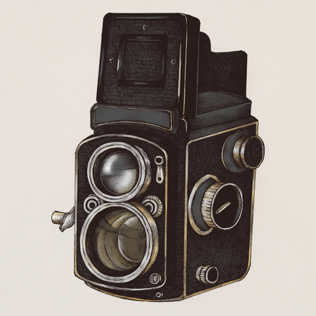 Analog camera vintage style illustration Stock fotó - 99962842