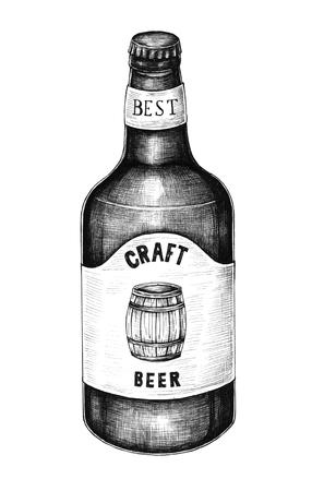 Illustration of a beer bottle