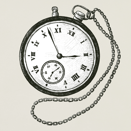 Pocket watch vintage style illustration Banco de Imagens - 99963800