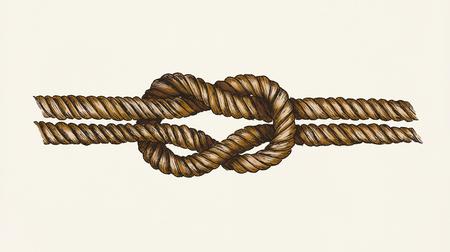 Hand getrokken vierkante knoop