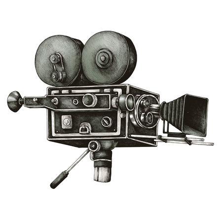 Video camera vintage style illustration Foto de archivo - 99963758