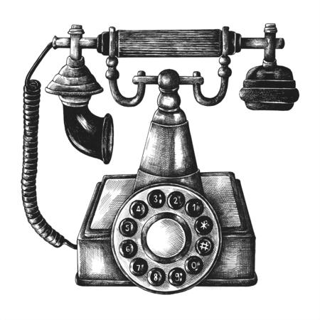 Illustration of retro telephone