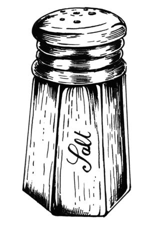 Hand drawn salt shaker