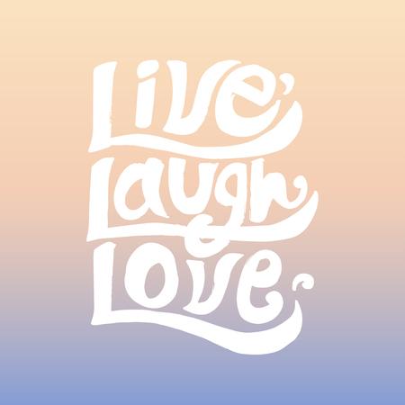 Live Lachen Liebe inspirierend Zitat Standard-Bild - 99963928