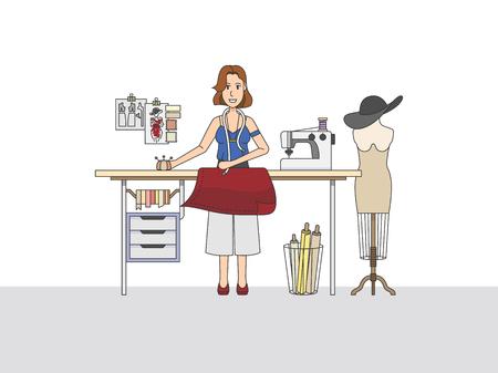A fashion designer at work Standard-Bild