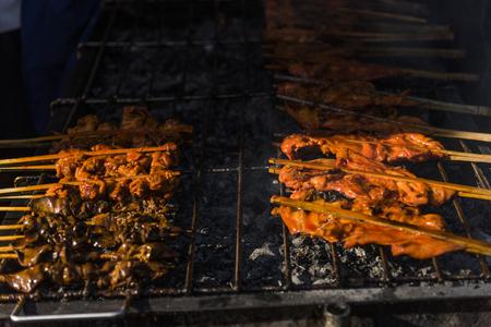 Closeup of Thai street food Stock Photo