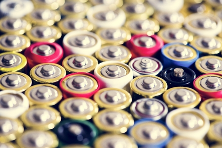 Alkaline battery background 写真素材