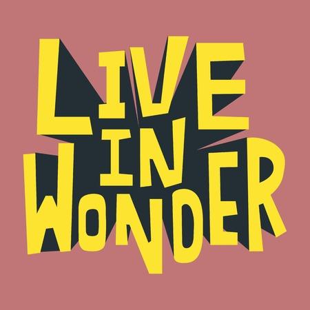 Live in Wonder inspirational quote Reklamní fotografie - 100101615