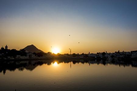 Pushkar Lake a sacred lake, Rajasthan, India