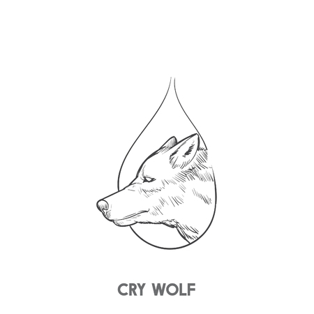 Cry wolf Stock fotó