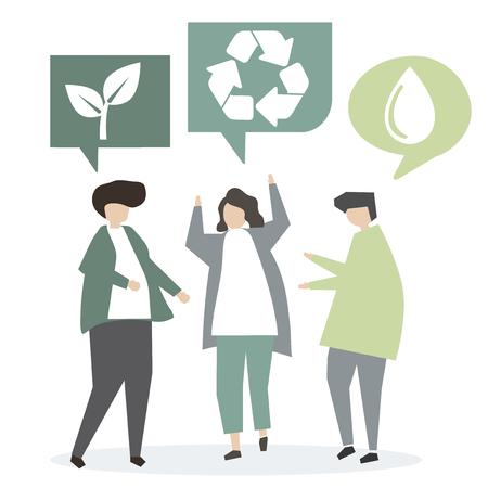 Ecology discussion concept Foto de archivo - 115608025