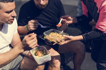 People eating healthy food 写真素材