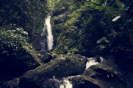 Beautiful view of a waterfall
