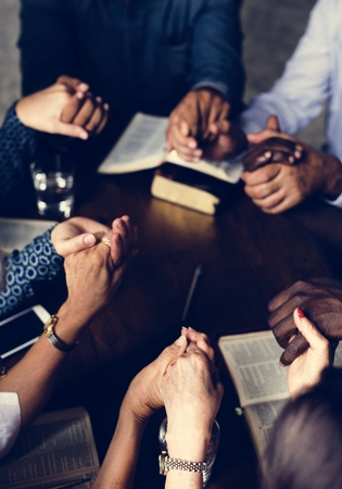 Group of people praying worship believe hope 写真素材