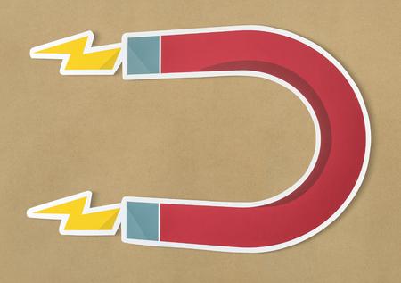 Magnet horseshoe magnetic icon isolated Zdjęcie Seryjne