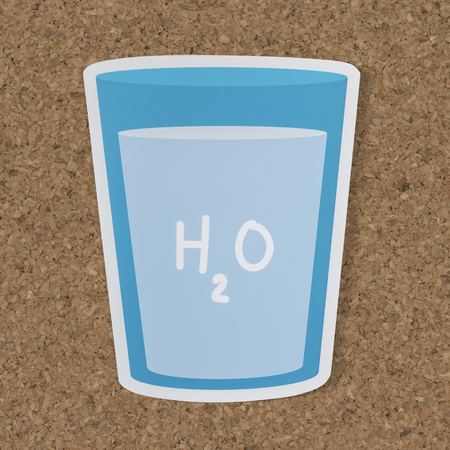 Glass of drinking water icon Imagens - 100175989