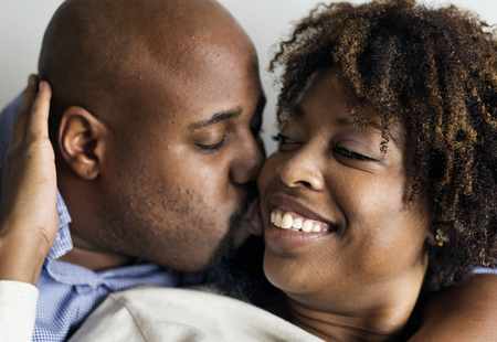 Happy sweet couple in love Stock Photo