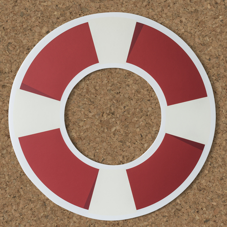 Ring buoy life saver icon 写真素材