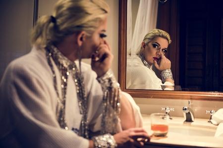 Russian drag queen Stock Photo - 100176360