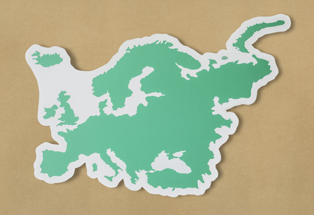 Blank map of Europe and countries Banco de Imagens - 103168647