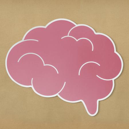 Pink brain creative ideas icon Archivio Fotografico - 100176595