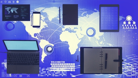 Digital device on a cyber space table
