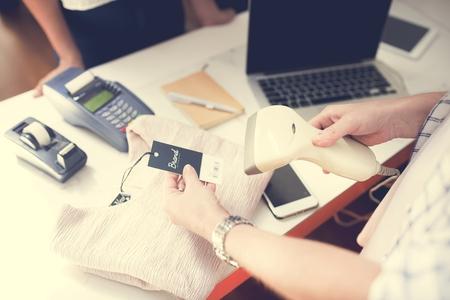 Exchange of money with products Standard-Bild - 100176235