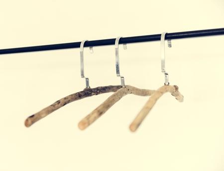 Hanger on wardrobe white background